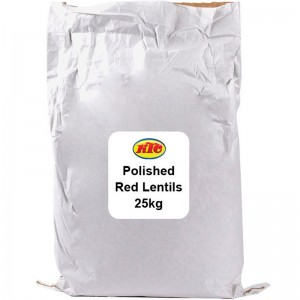 KTC Polished Red Lentils 25kg