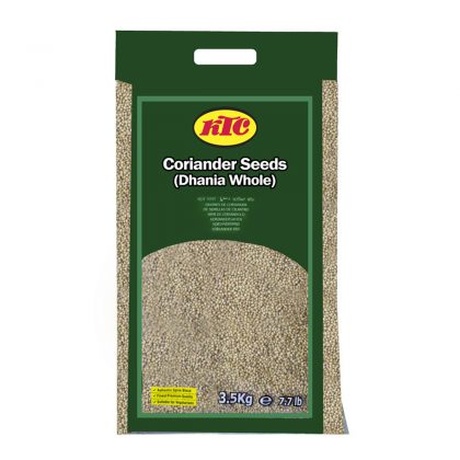 KTC COriander Seeds (Dhania Whole) 3.5kg