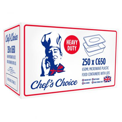 Chef's Choice Plastic Containers 250 x 650ml