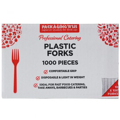 Pack 'R' Us Professional Catering Plastic Forks 10 x 100