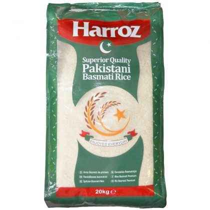 Harroz Superior Quality Pakistani Basmati Rice 20kg
